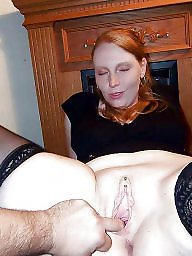 Nylon, Nylons, Open, Mature nylon, Wide open, Wide