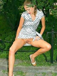 Nylon, Panties, Nylons, Stockings flash, Upskirt stockings, Upskirt panty