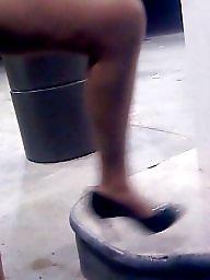 Upskirt, Heels, Candid, High heels