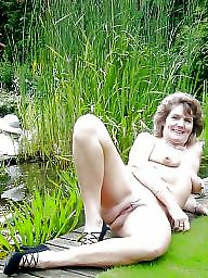 Outdoors, Female, Shaved pussy, Shaved