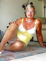 Grandma, Stockings, Body, Mature stockings, Mature porn