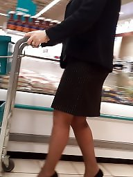 Black, Black milf, Milf stocking, Black stocking, Candids