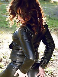 Leather, Lady, Milf leather