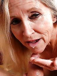 Mature facial, Mature blowjob, Granny blowjob, Facials, Granny love, Granny facial