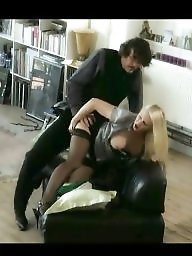 German, Secretary, Black stocking