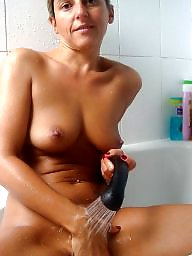 Shower, Mature sexy, Mature shower