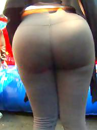 Candid, Spandex, Huge, Latinas, Huge ass, Milf latina
