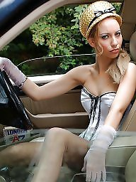 Car, Cars, Nylons, Nylon upskirt, Vintage nylon, Nylon stockings