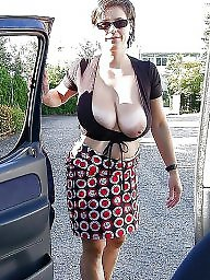 Car, Mature big boobs, Big mature, Women, Mature boobs, Voyeur mature