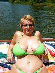 Downblouse, Mature bikini, Bikini, Dress, Underwear, Mature downblouse