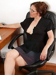 Upskirt, Office, Mature upskirt, Mature redhead, Redhead mature, Mature office