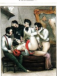 Cartoons, Group, Erotic, Art, Vintage cartoon, Sex cartoon