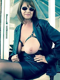 Mature, Granny, Big boobs, Flash, Flashing, Granny big boobs