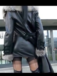 Boots, Milf, Leather, Fur, Gloves, Coat