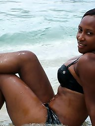 Beach, Ebony amateur, Black girls, Black amateur