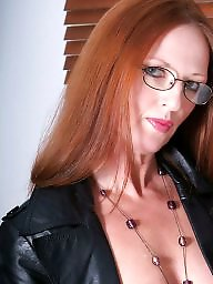 Leather, Milf leather, Femdom milf