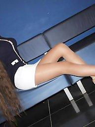 Upskirt, Heels, High heels, Tights