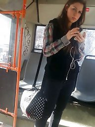 Voyeur, Spy, Romanian, Hidden cam, Bus, Spy cam