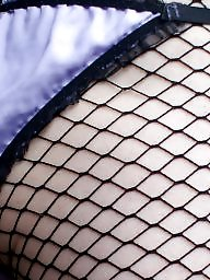 Satin, Fishnet, Tights, Tight, Upskirt stockings