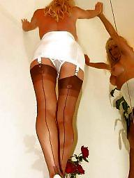Girdle, Open, Upskirt stockings