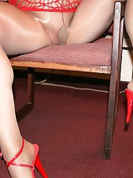 Mature pantyhose, Pantyhose, Mature stockings, Stocking tops, Red, Pantyhose mature