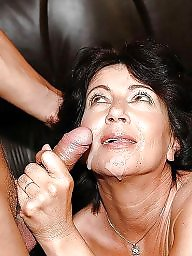 Mature facial, Granny mature, Facials, Grannis, Mature blowjob, Granny facial