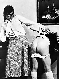 Spanking, Spank, Spanked, White, White and black, Vintage bdsm