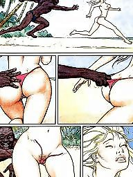 Cuckold, Funny, Interracial cartoon