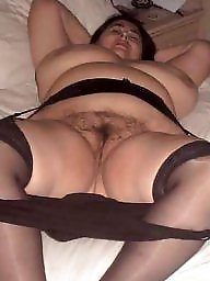 Spreading, Spread, Bbw hairy, Hairy bbw, Bbw stocking, Bbw stockings