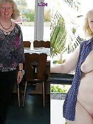 Granny, Dressed undressed, Dress, Dressed, Mature dress, Granny amateur