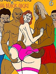 Cartoon, Bbc, Teacher, Interracial cartoons, Interracial cartoon, Funny