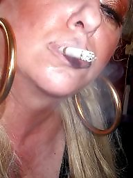 Smoking, Blowjob, Smoke, Blonde milf