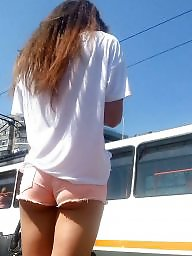 Shorts, Short, Voyeur, Teen girls, Short shorts, Voyeur teen