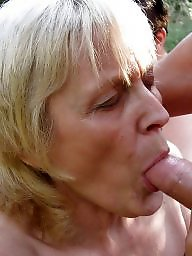 Grannies, Blowjob, Granny blowjob, Mature facial, Oral, Mature blowjob