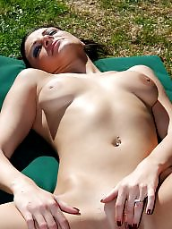 Saggy, Saggy tits, Outdoor, Mermaid, Tits flash, Saggy tit