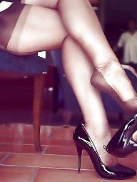 Stocking, Legs, Milf legs, Milf stocking