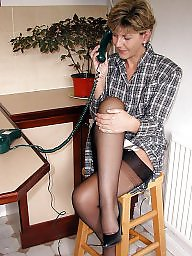 Uk mature, Kitchen, Stocking mature, Stockings mature, Amateur stocking, Mature uk