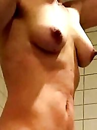 Wife, Nude wife, Unaware, Shower