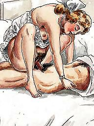 Drawing, Drawings, Draw, Vintage cartoons, Erotic