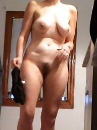 Unaware, Naked, Wife naked, Hairy wife