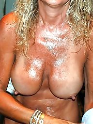 Mature nipples, Erection