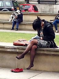 Candid, Flat, Tight, Red, Amateur pantyhose, Tights