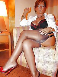 Mature feet, Heels, Legs, Mature legs, Lady, High heels