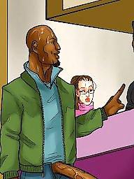 Cartoon, Interracial, Interracial cartoon, Night, Interracial cartoons