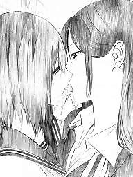 Lesbian cartoon, Manga, Lesbians, Asian lesbian, Asian cartoon