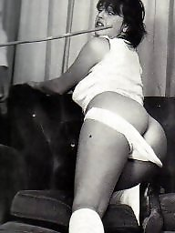 Retro, Vintage, Panties, Vintage bdsm, Punish, White panties