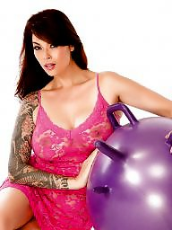 Dildo, Toy, Balls, Balloon, Gym, Girl