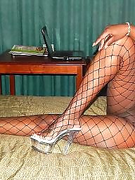 Fishnet, Ebony stockings, Ebony amateur, Black stocking