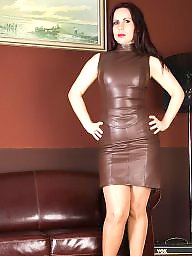 Leather, Tight, Skirt, Leather skirt