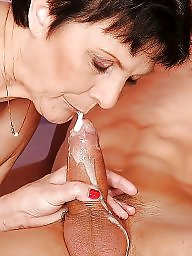 Granny blowjob, Mature facial, Granny facial, Mature blowjob, Mature facials, Cumming